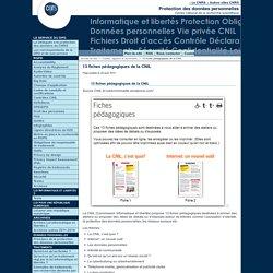 13 fiches pédagogiques de la CNIL - Fil d'actualité du Service Informatique et libertés du CNRS