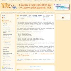 Tice 74 - Site des ressources pédagogiques TICE - PicoSvoxOOo, une synthèse vocale pour aider à l'écriture et à la lecture