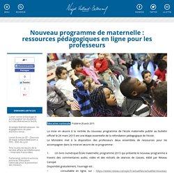 Nouveau programme de maternelle : ressources pédagogiques en ligne pour les professeurs