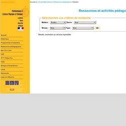 Ressources p dagogiques de maths et de sciences de lyc e professionnel