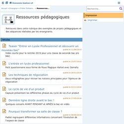 2.7. Ressources pédagogiques - Économie Gestion en Lycées Professionnels