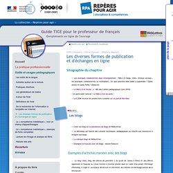Guide TICE - Outils et usages pédagogiques - Les diverses formes de publicationet d'échanges en ligne
