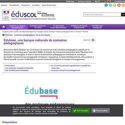 Les EDU'bases - EDU'bases, des usages répertoriés pour les enseignants