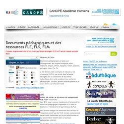Documents pédagogiques et des ressources FLE, FLS, FLM