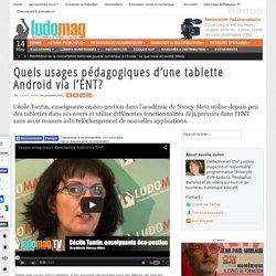 Quels usages pédagogiques d'une tablette Android via l'ENT
