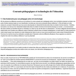 Courants pédagogiques et technologies de l'éducation