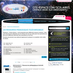 Cité de l'espace éducation : Ressources pédagogiques téléchargeables