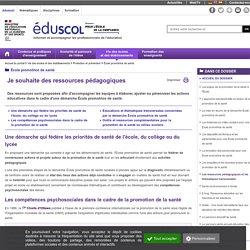 École promotrice de santé - Les ressources pédagogiques et les thématiques transversales