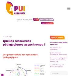 Quelles ressources pédagogiques asynchrones ? – Appui à la Pédagogie Universitaire et Innovante
