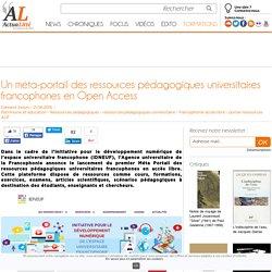 Un méta-portail des ressources pédagogiques universitaires francophones en Open Access