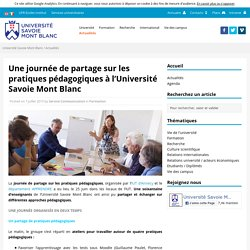 Une journée de partage sur les pratiques pédagogiques à l'Université Savoie Mont Blanc