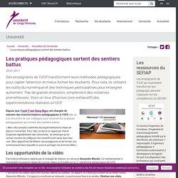 Les pratiques pédagogiques sortent des sentiers battus - Université de Cergy-Pontoise