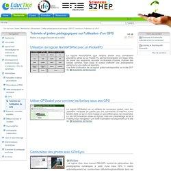 Tutoriels et pistes pédagogiques sur l'utilisation d'un GPS