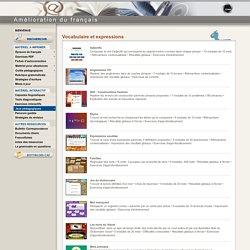 CCDMD - Jeux pédagogiques - Vocabulaire et expressions