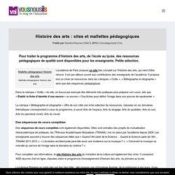 Histoire des arts : sites et mallettes pédagogiques - VousNousIls