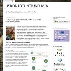 Tilat pedagogisesti haltuun: Tutki tilaa -malli pähkinänkuoressa (Napauta kuvaa avataksesi tiedoston!)