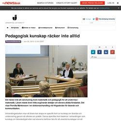 Pedagogisk kunskap räcker inte alltid - Jönköping University