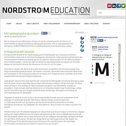 Min pedagogiska grundsyn @ Nordström Education