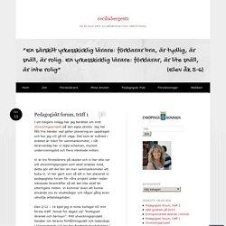 Pedagogiskt forum, träff 1