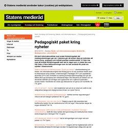 Pedagogiskt paket kring nyheter