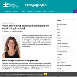 Vad säger elever och lärare egentligen om bedömning i skolan? - Pedagogsajten Familjen Helsingborg