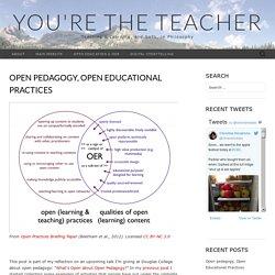 Open pedagogy, Open Educational Practices – You're the Teacher