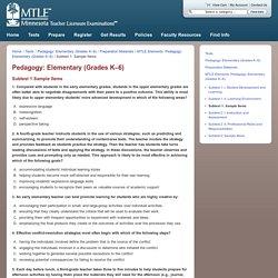 Pedagogy: Elementary (Grades K–6)