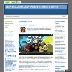 Pedagogy and the iPad « Northern Arizona University's e-Learning Center