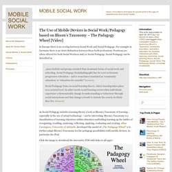 The Use of Mobile Devices in Social Work/Pedagogy based on Bloom's Taxonomy – The Padagogy Wheel [Video]