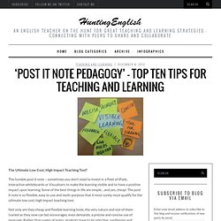 'Post It Note Pedagogy' – Top Ten Tips for Teaching & Learning