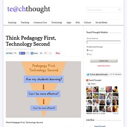 Think Pedagogy First, Technology Second
