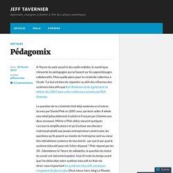Pédagomix – Jeff Tavernier
