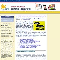 Portail pédagoqique de la Commission scolaire de Laval - Accueil - Science et technologie au primaire