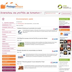 Pédagothèque.be - Plateforme pédagogique - Environnement