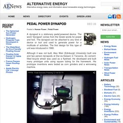 Alternative Energy news - Pedal Power Dynapod