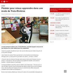 Pédaler pour mieux apprendre dans une école de Trois-Rivières