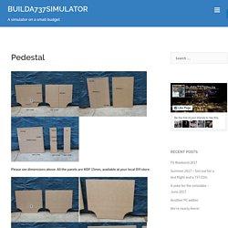 Pedestal - BUILDA737SIMULATOR