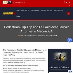 Pedestrian Accident Attorney Macon