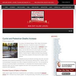 Cyclist and Pedestrian Deaths Increase