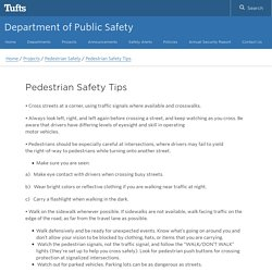 Pedestrians - How can you be safe on the road?