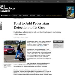Ford Cars Will Soon Come with Pedestrian-Spotting Systems