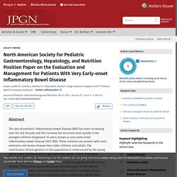 North American Society for Pediatric Gastroenterology, Hepat... : Journal of Pediatric Gastroenterology and Nutrition