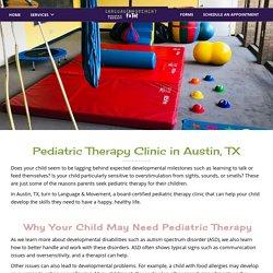 Pediatric Therapy in Austin, TX