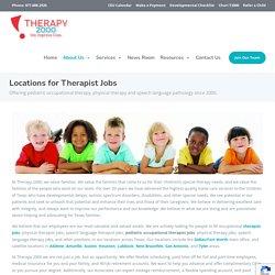 Children's Pediatric Occupational Speech Therapist & Therapy Jobs TX