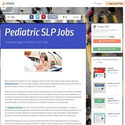 Pediatric SLP Jobs