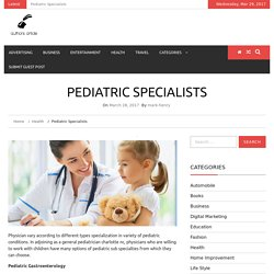 Pediatric Specialists - Authors Article