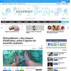 HUFFINGTON POST 25/04/13 Fish pédicure : des risques d'infection, selon l'Agence de sécurité sanitaire