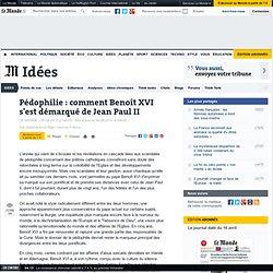 Pédophilie : comment Benoît XVI s'est démarqué de Jean Paul II