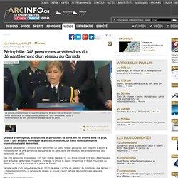 Pédophilie: 348 personnes arrêtées lors du démantèlement d'un réseau au Canada - Monde