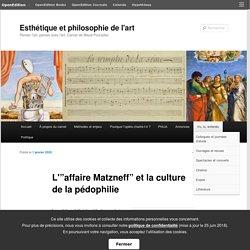 """L'""""affaire Matzneff"""" et la culture de la pédophilie"""